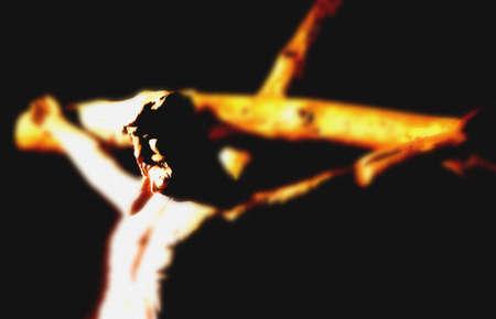 délivrance: Jésus sur la Croix.
