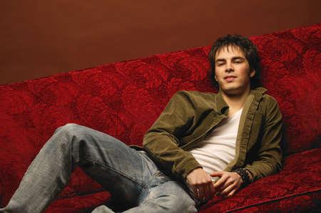Portrait of a young male model Banque d'images