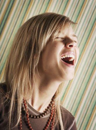 glubish: Teen laughing Stock Photo