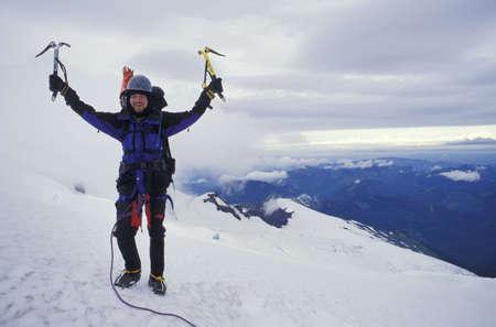 klimmer: Een bergbeklimmer  Stockfoto
