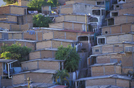 populous: Rows of houses Stock Photo