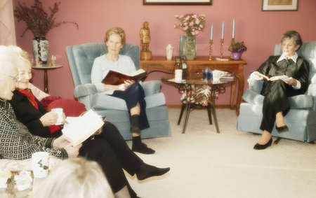 Group of women studying Bible