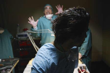 Horrified doctor photo