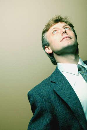 darren greenwood: Businessman looking up