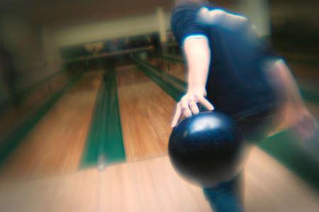 darren greenwood: Ten pin bowling Stock Photo