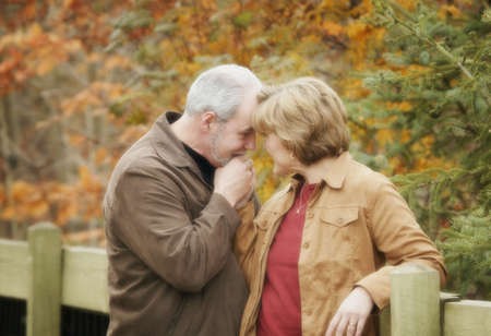 Couple together and in love Stock Photo
