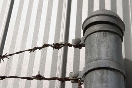 Barbed wire fence Stock Photo - 6214367