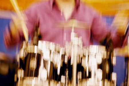 exalt: Drummer Drumming Stock Photo