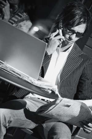 Businessman working Stock Photo - 6214541