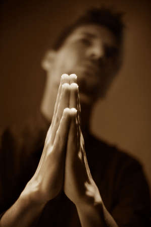 humility: Man praying