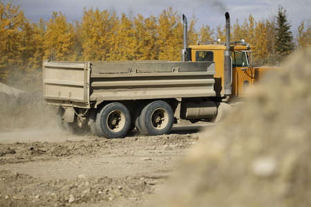 Large truck at construction site photo