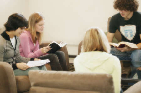 confess: Study group Stock Photo