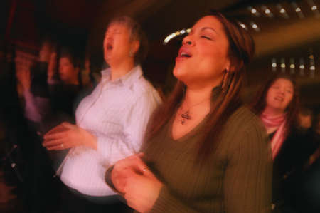 Women worshipping Stock Photo