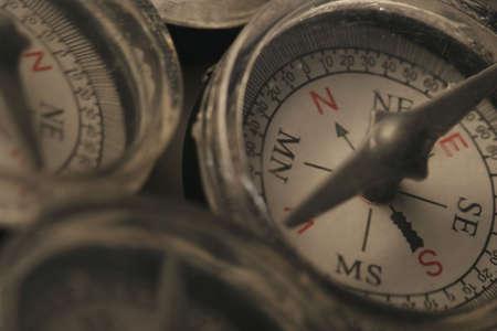 contradict: Compasses Stock Photo