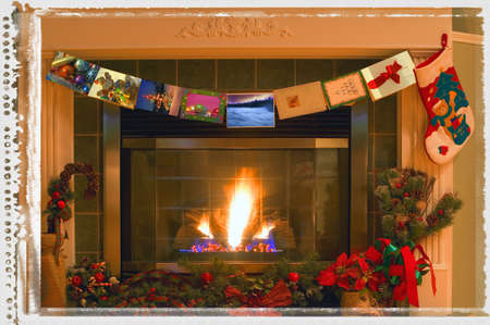 carson ganci: Traditional Christmas interior