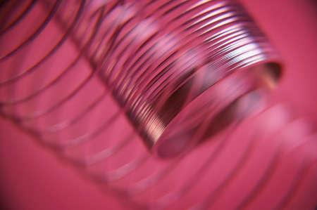 Close up of metal spring