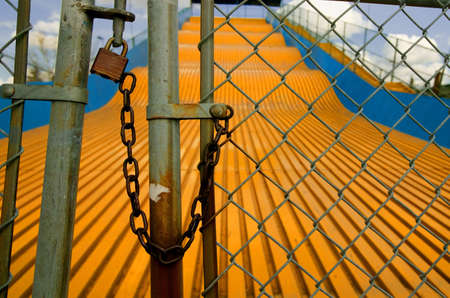 locked: Locked up slide at amusement park