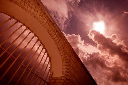 god in heaven: Heavens gate Stock Photo