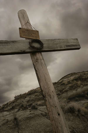 easter cross: The rugged cross