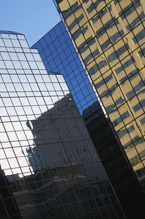 Glass buildings and reflections