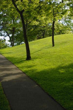 muz: Path in the park Stock Photo