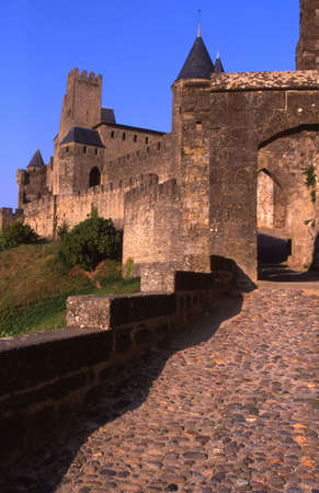 Walled City of Carcassonne Stok Fotoğraf