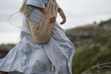 siembra: Jes�s camina Foto de archivo