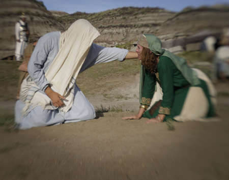 a righteous person: Jesus forgives Stock Photo