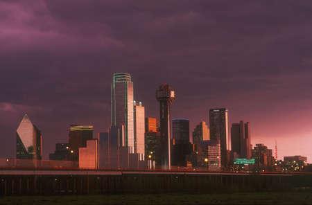 dallas: Skyline of Dallas Texas U.S.A. Stock Photo