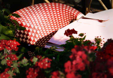 An outdoor cafe table photo