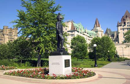 A commemorative statue in a park Stok Fotoğraf
