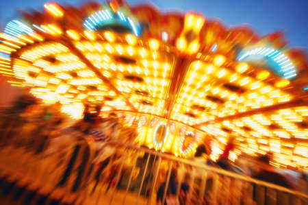 A carousel ride Stock Photo