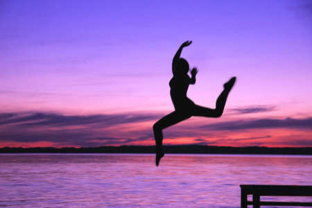 leah: Woman leaps into the water