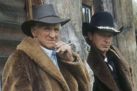 Portrait of a pair of cowboys photo