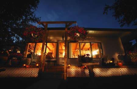 imaginor: Exterior cabin at night