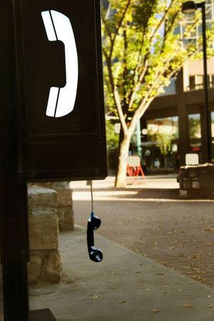 miscommunication: Public phone off the hook
