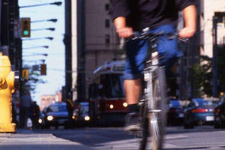 A busy city street Stok Fotoğraf