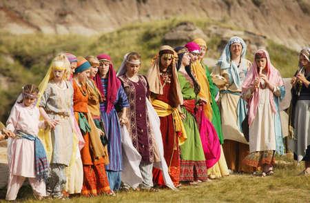 Women dancing traditional dance Stock Photo - 5644783