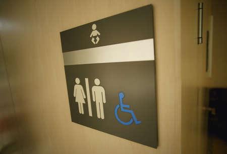 Sign on a washroom door photo