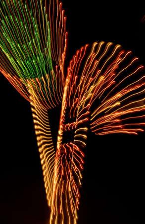 muz: Closeup of a light display