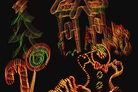 Closeup of Christmas lights Stock Photo