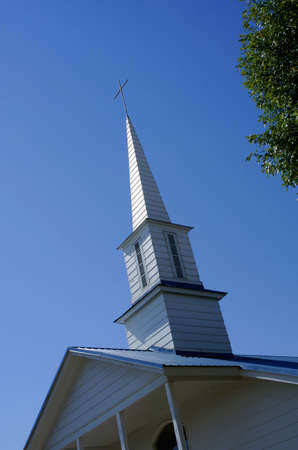 church steeple: Un campanile della Chiesa Archivio Fotografico