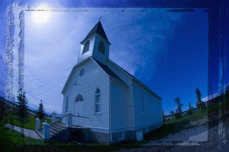corey hochachka: Funky traditional church in Stony Plain Alberta Stock Photo