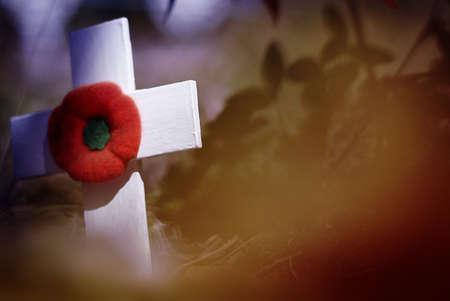 memorial cross: D�a de recuerdo Foto de archivo