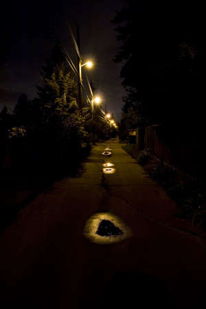 city alley: Dark alley