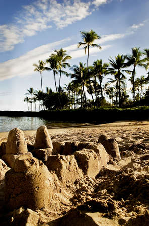 Sand castles on a tropical beach Stock Photo - 5645000