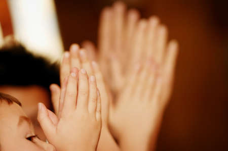 tanasiuk: Children praying Stock Photo