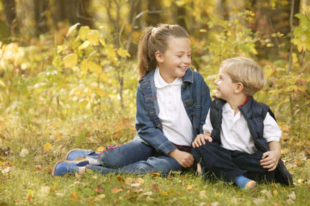 Boy and girl hanging out together Stock Photo - 5669761
