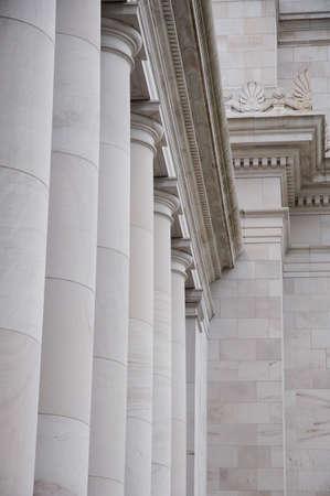 Pillars on building Stock Photo