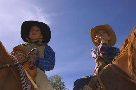 carson ganci: Two young cowboys Stock Photo